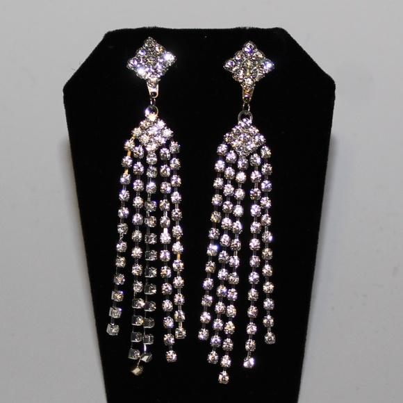c9227c12c Jewelry | Prom Earrings Dangles Diamond Shape Earrings | Poshmark